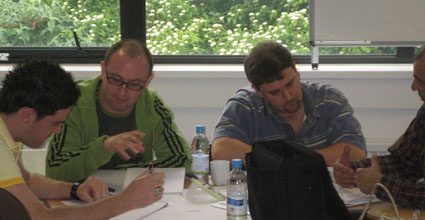 Executive Coaching training participants practice their coaching skills